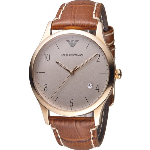 Emporio Armani Classic 紳士復刻經典腕錶 AR1866 咖啡