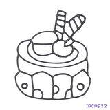 【愛玩色創意館】 兒童無毒彩繪玻璃貼- 小張圖卡 - 蛋糕 IPCPS22 -台灣製