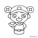 【愛玩色創意館】 兒童無毒彩繪玻璃貼- 小張圖卡 - 小財神 IPCPS27 -台灣製