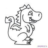 【愛玩色創意館】兒童無毒彩繪玻璃貼- 小張圖卡 - 恐龍 IPCPS23 -台灣製