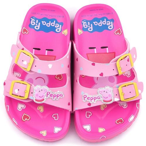 童鞋城堡-粉紅豬小妹 佩佩豬 中童 甜美亮麗軟木風格拖PG0020-粉