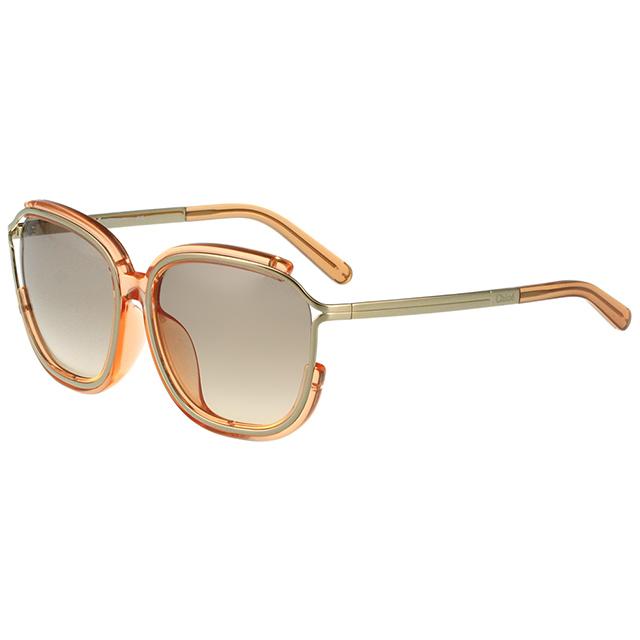 CHLOE太陽眼鏡 方框 經典款(透明粉膚色)CE694SA-749