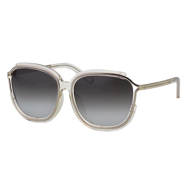 CHLOE太陽眼鏡 方框 經典款(透明)CE694SA-971