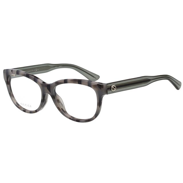 GUCCI 簡約百搭 光學眼鏡 (灰色條紋)