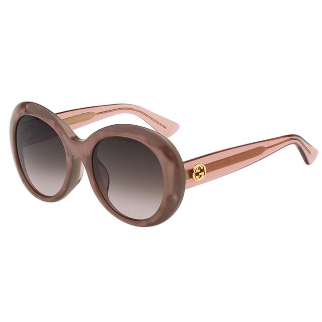 GUCCI- 復古圓框 太陽眼鏡 (粉膚色)