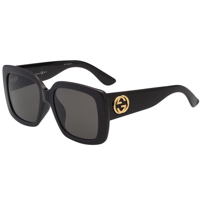 GUCCI- 大方框 太陽眼鏡 (黑色)