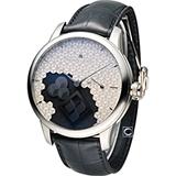 Maurice lacroix艾美匠心系列方輪立方械錶 MP7158-SS001-909