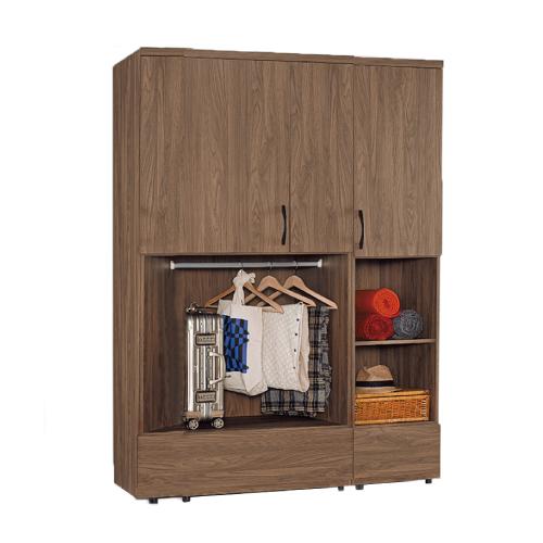AS-瑪德琳半開放衣櫃+瑪德琳1.5尺衣櫃