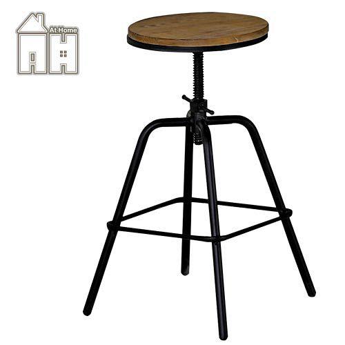 AT HOME-泰勒原木升降吧台椅