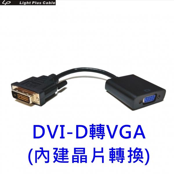 LPC-1880 DVI-D轉VGA 數位轉類比轉接器(內建DA主動式晶片)