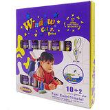 【BabyTiger虎兒寶】愛玩色 兒童無毒彩繪玻璃貼- 盒裝組 10+2 色-台灣製