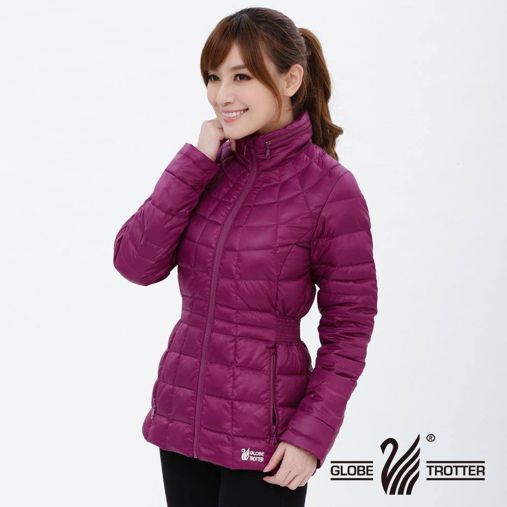 【遊遍天下】女款顯瘦JIS90%羽絨防風防潑水中長版羽絨外套G0322紫紅