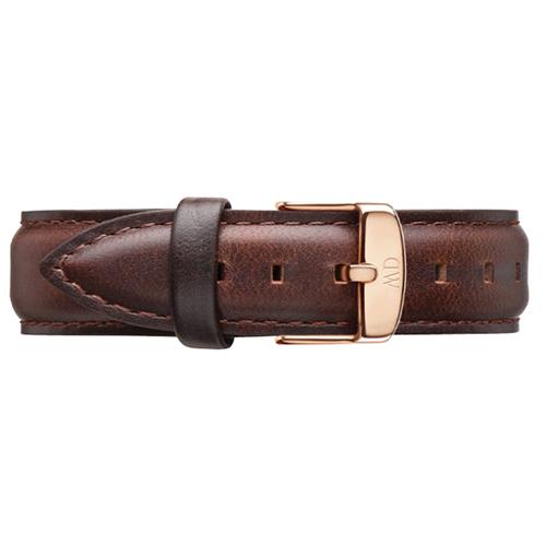 DW Daniel Wellington 咖啡色皮革錶帶/18mm(0711DW)