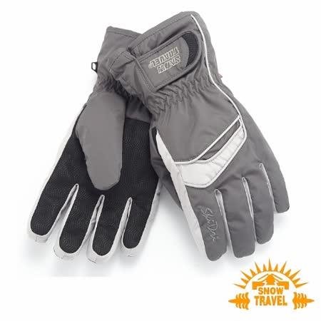 SNOWTRAVEL SKI-DRI防水透氣PRIMALOFT保暖手套(深灰)