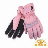 SNOWTRAVEL SKI-DRI防水透氣PRIMALOFT保暖手套(粉紅)