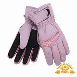 SNOWTRAVEL SKI-DRI防水透氣PRIMALOFT保暖手套(紫色)