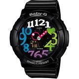 CASIO 卡西歐 Baby-G 霓虹照明造型錶-黑 BGA-131-1B2DR