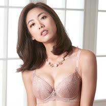 【摩奇X】魔翼胸罩D-E罩杯內衣(煙燻粉)