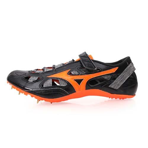 (男女) MIZUNO CHRONO INX 9-日製田徑釘鞋-短距離 附鞋袋 黑橘