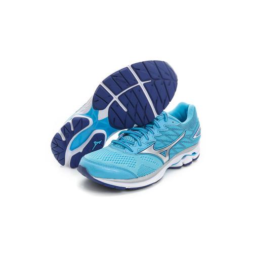 MIZUNO 美津濃 女鞋 慢跑鞋 水藍銀 J1GD170603