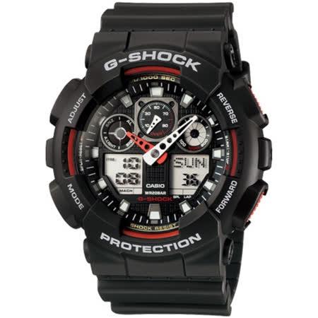 卡西歐G-SHOCK  重型機械感雙顯錶