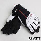 SNOWTRAVEL MATT西班牙 PRIMALOFT保暖GTX防水手套(黑/白)