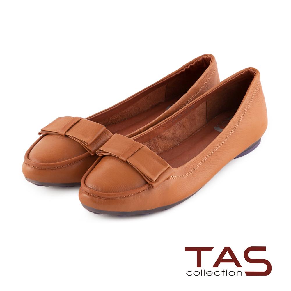 TAS 太妃Q系列 蝴蝶結牛皮娃娃鞋