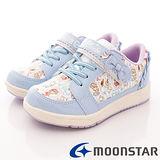 日本Carrot機能童鞋-冰雪奇緣印花款-NC11859藍-(15cm-19cm)