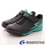 日本月星競速童鞋-足球運動款-SSJ7476黑綠-(20cm-24.5cm)