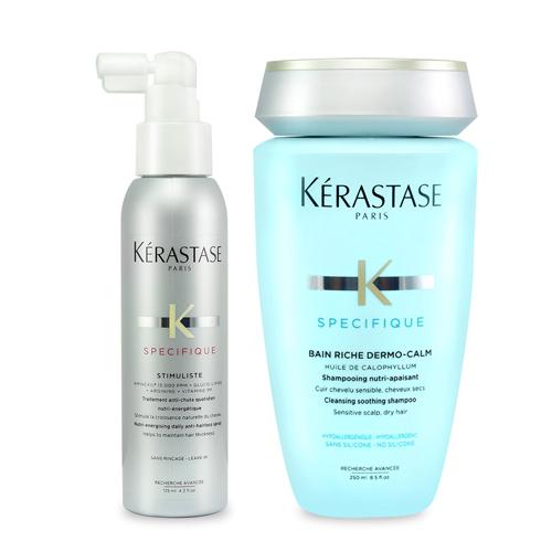 KERASTASE卡詩 特潤呵護呼吸組(特潤舒活髮浴250ml+α胺基酸頭皮全能精華125ml)