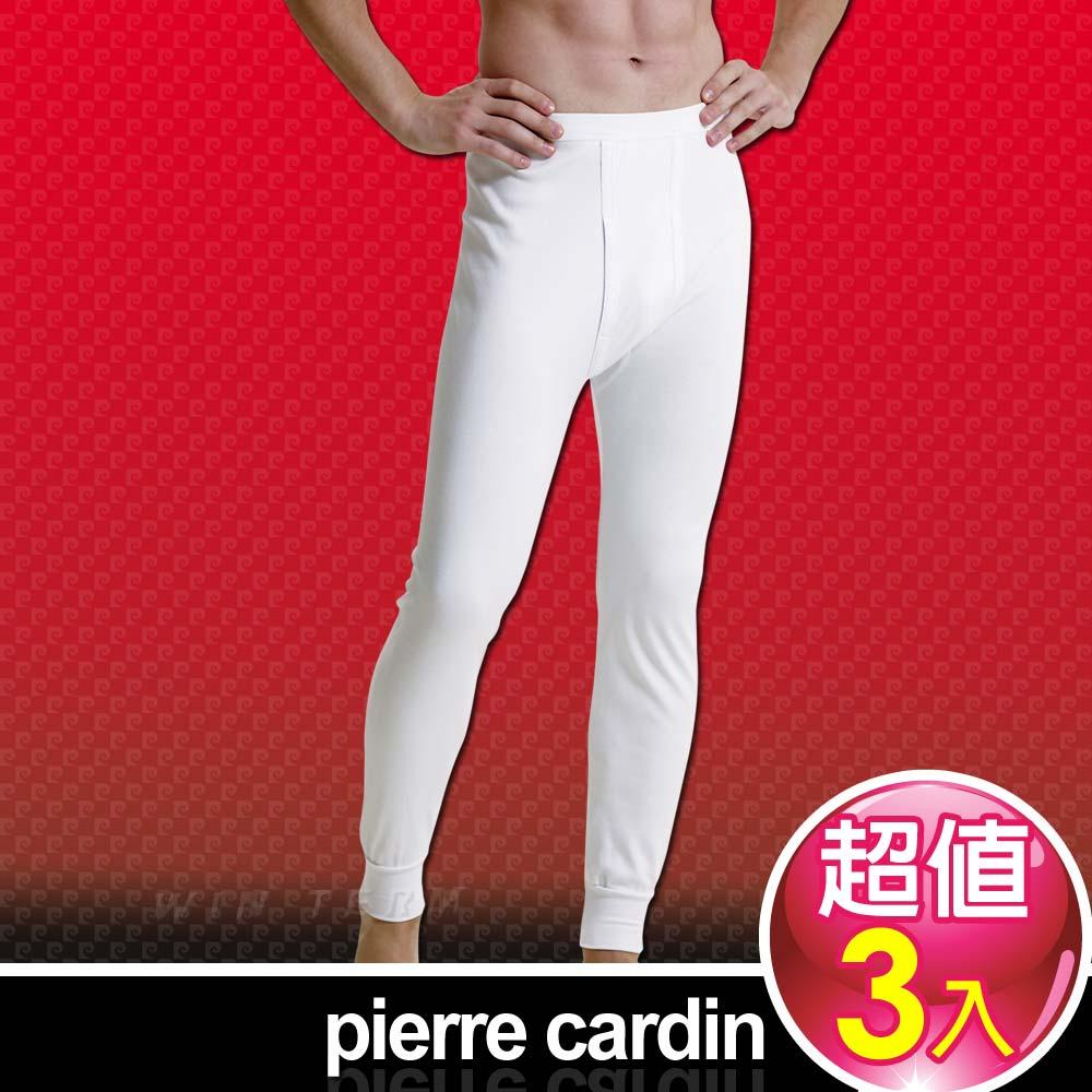 Pierre Cardin 皮爾卡登 排汗厚暖棉長褲-台灣製造(3入組)