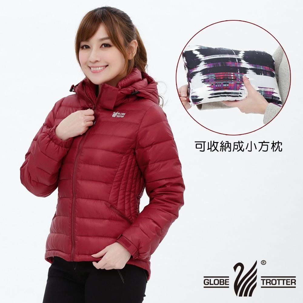 【遊遍天下】女款顯瘦JIS90%羽絨防風防潑水極暖羽絨外套G0321紅色