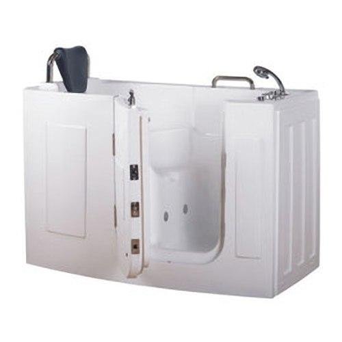 【海夫健康生活館】開門式浴缸 107-T 恆溫水柱按摩款 (140*76*98cm)
