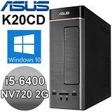 ASUS K20CD-0041A 【孤獨笑匠】四核Win10電腦 (i5-6400/4G/1TB/NV720 2G/WIN10)