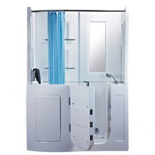 【海夫健康生活館】開門式浴缸 106B-T 恆溫水柱按摩款 (152*81*208cm)