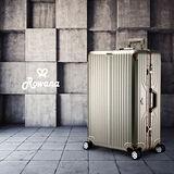 Rowana 閃耀律動立體拉絲輕量鋁框行李箱 29吋(奢華金)