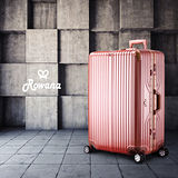 Rowana 閃耀律動立體拉絲輕量鋁框行李箱 29吋(玫瑰金)