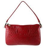 Sika-義大利進口100%牛皮壓鱷魚紋方包S8234-04/紅色(可當晚宴包手拿包)