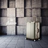 Rowana 閃耀律動立體拉絲輕量鋁框行李箱 20吋(奢華金)