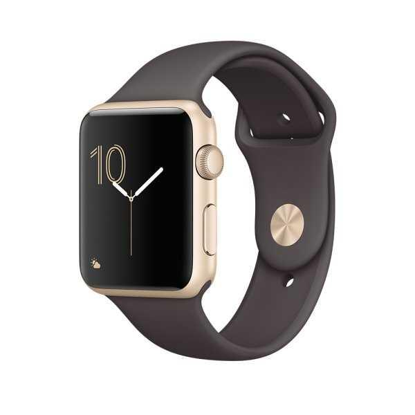 Apple Watch Series 2 智慧型手錶 (42mm) /A 42公釐 金色鋁金屬錶殼搭配可可色運動型錶帶 (MNPN2 TA/A)