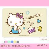 【三麗鷗獨家授權】Hello Kitty珪藻土吸水地墊 /彩印-歡樂澡堂