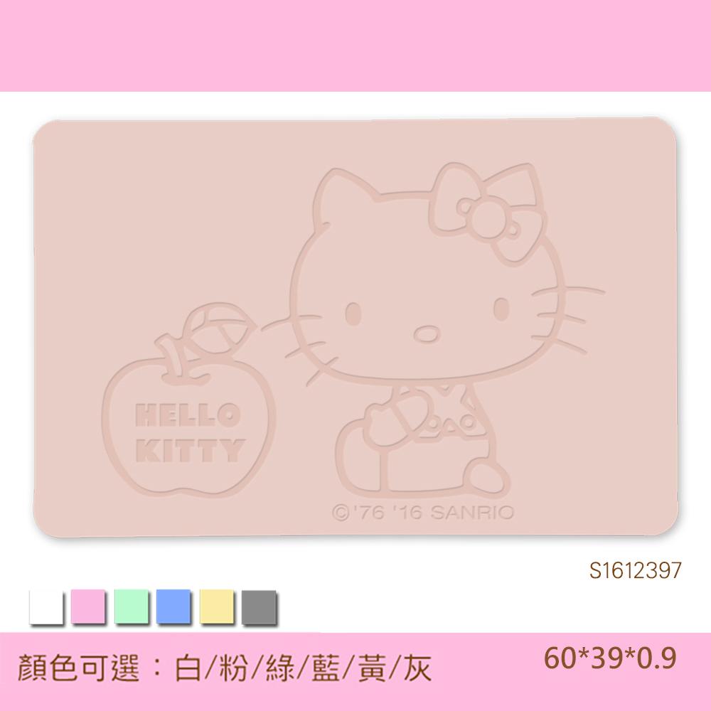 Hello Kitty珪藻土吸水地墊  三麗鷗獨家授權/雕刻/愛的蘋果