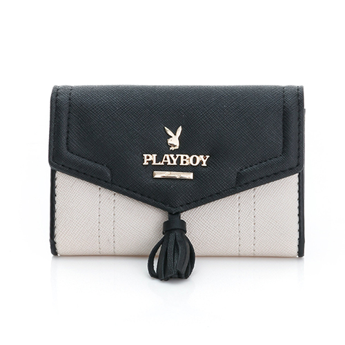 PLAYBOY~ Grace 優雅宣言系列 名片夾~氣質米白