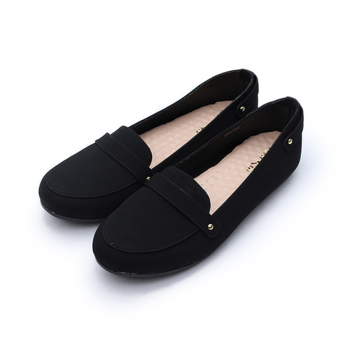 (女) Rin Rin 典雅橫帶樂福鞋 黑 鞋全家福