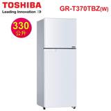 [促銷] TOSHIBA東芝 330公升超靜音變頻雙門電冰箱 GR-T370TBZ(W)白色 含基本安裝