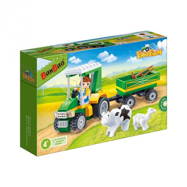 【BanBao 積木】開心農場系列-農場搬運車 8586