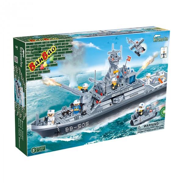 【BanBao 積木】戰爭系列-兩棲登陸艦 8413
