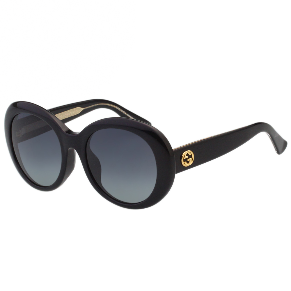 GUCCI- 復古圓框 太陽眼鏡 (黑色)