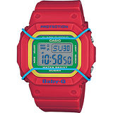 CASIO 卡西歐 Baby-G 復刻普普風腕錶-紅 BGD-501-4BDR