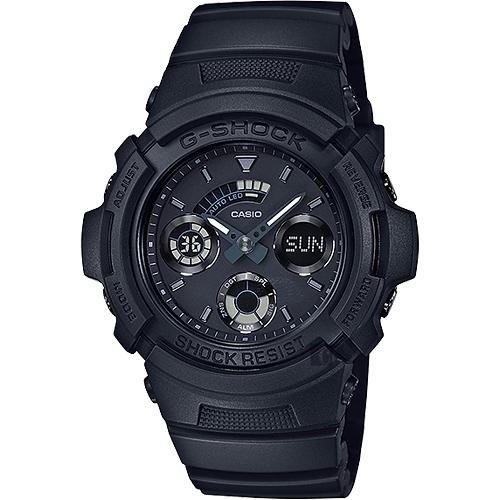 CASIO 卡西歐 G-SHOCK 經典賽車雙顯錶 AW-591BB-1ADR
